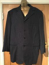 "Tryfon & Egan Bespoke Tailor Made 3 Piece Suit Navy Blue Pinstripe Chest 46"""