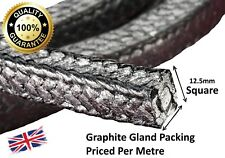 Gland packing / rope/braided 12mm Square x 1m long graphite