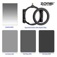 ZOMEI 150*100mm ND2+ND4+ND8+GND4 Filter Kit,77mm Ring,Holder For Cokin Z-PRO LEE