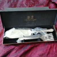 VINTAGE ARTHUR PRICE SILVER PLATED EPNS FISH Servers/Serving Set CUTLERY in BOX