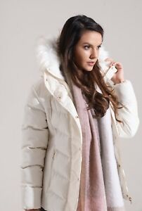 Charcoal Fashion Women's Pearl White Quilted Winter Puffa Jacket (02W17 ORCHID)