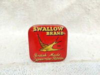 1930s Vintage Swallow Brand Typewriter Ribbon Litho Tin Box British Made
