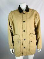 Orvis XXL 2X Mens Jacket Cotton Safari Utility Button Down Khaki Beige Brown