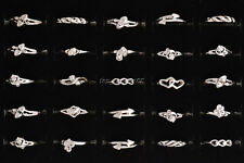 Wholesale Lots 50pcs Mixed Styles Exquisite Silver Plated Kid/Girl's Rings FREE