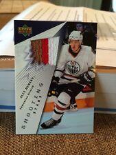 2003-04 UD Shooting Stars #ST-AH Ales Hemsky 3 Color Edmonton Oilers