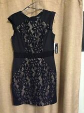 R&M Richards Dress Black and Nude size 8 New with Tags