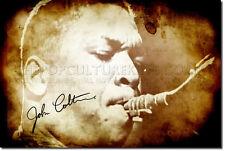 John Coltrane Original Impresión de Arte Foto Poster De Jazz De Regalo