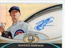 2011 BOWMAN PLATINUM #BPA-HS HAYDEN SIMPSON AUTO ROOKIE RC - CHICAGO CUBS