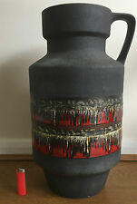 Large Vintage 50cms West German Pottery Fat Lava Floor Vase Dumler & Breiden