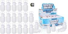 Bulk Wedding Bubbles - (48 pack) Double Heart Bubble Bottles, For Bridal...