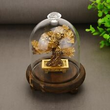 Feng shui Decor Lucky Wealth Ornament 24k Gold Foil Pine Tree Gold Crafts Gifts