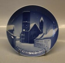 """Bing & Grondahl (B&G) Christmas Plate from 1943 """"The Ribe Cathedral""""."""