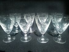 Edinburgh crystal thistle etched small wine glasses glass x 8 ideal mousse serve