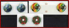 USA 2013-14 x 3 GLOBAL imperforated ISSUES in PAIRS  MNH  $$ SCARCE $$ (K-J18)