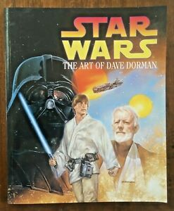 STAR WARS - THE ART OF DAVE DORMAN Large Paperback Published 1996