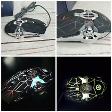 Gaming Mouse Wired Silent Mouse Multiple Colored LED Backlight Light Up 1600DPI