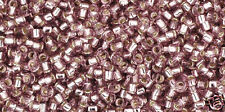 Toho 15/0 Silver Lined Lt Amethyst Round Seed Bead 15-26 8 grams
