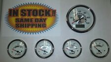 VEETHREE WHITE STERLING 5 GAUGE SET GPS SPEEDO 70619 STREET HOT ROD Universal
