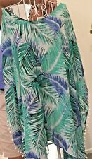 Women's Top/Poncho/Coverall Blue Green White Sz L/XL