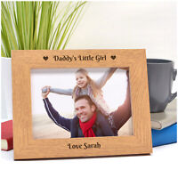 PERSONALISED Birthday Gifts from Daughter Little Girl for Daddy Dad Photo Frame