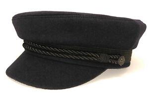 Elbsegler - German fisherman's navy blue visor cap  EREL / Robert Lubstein-repro
