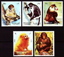 Sharjah 1972 ** mi.1012/16 a monos Monkeys animales animals fauna