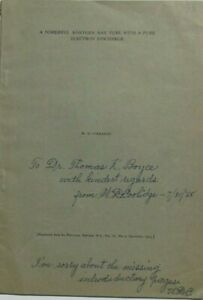 William D. Coolidge Prominent Physicist X-Ray Machines Signed Booklet