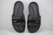 Mens Nike Comfort Slides Sandals Size 8 Black Silver Anthracite 360884 001