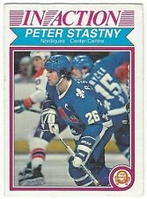 1982-83 OPC HOCKEY #293 PETER STASTNY IN ACTION - VERY GOOD+