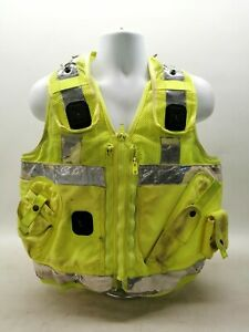 Hi Vis Tactical Utility Vest Uniform Patrol Duty Security Safety Officer Grade 2