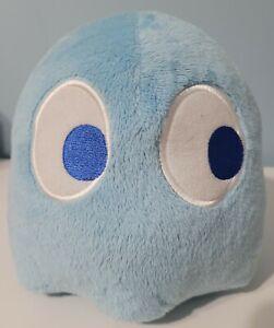 "Bandai 7.5"" Pac-Man Blue Ghost Plush Licensed Namco EUC"