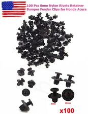 New 100 Pcs 8mm Nylon Rivets Retainer Bumper Fender Clips for Honda Acura US