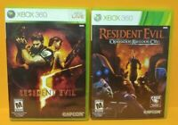 Resident Evil 5 + Operation Raccoon City - XBOX 360 -2 GAME Horror Lot Tested