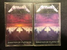 Metallica Master of Puppets Cassette Tape Lot Original and Variant Covers