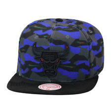 low priced 5708e b4493 Mitchell   Ness Chicago Bulls Snapback Hat Prox Pattern Black Red Eyes
