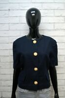 Giacca LUISA SPAGNOLI Donna Taglia M Maglia Blazer Jacket Woman Lino Jacke Blu