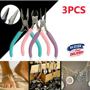 3Pcs Mini Jewellery Beading Pliers Tooth Needle Round Nose Making Tools Kit SNB