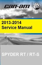 2013 2014 Can-Am Spyder RT RT-S RT Ltd motorcycle service manual on CD CanAm