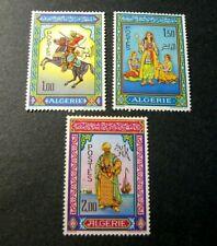 Algeria Stamp Scott# 362-364 Miniatures by Mohammed Racim 1966  MH C520