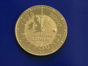2000 Millennium Gold Coloured Five 5 Pound Coin Special Dome Mint Mark BU RARE!!