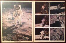 NASA APOLLO 11 BUZZ ALDRIN PHOTO LOT Descent To Moon Surface Ed LM Footprint...