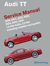 Audi TT NEW Bentley #AT06 Service Manual Book 00 to 06 listed LATEST EDITION