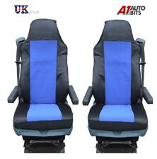 QUALITY BLUE-BLACK TAILORED SEAT COVERS SET NEW FOR DAF XF105 XF 105 CF LF