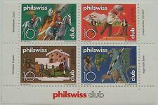 Zwitserland - Veldeel van 4 Philswiss club zegels (2)