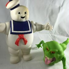 Ghostbusters Stay Puft Marshmallow Man and Slime Green Ghost Vinyl Figures 1984