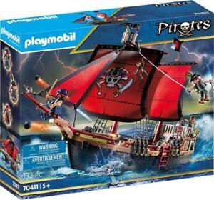 PLAYMOBIL (70411) - Skull Pirate Ship Play Set