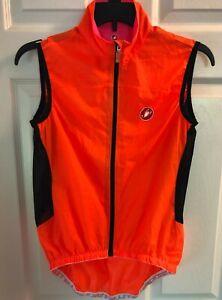 Castelli cycling vest - Womens M orange