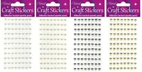 88 Self Adhesive Stick On Pearl Hearts Gems 6mm Wedding Card Making Craft