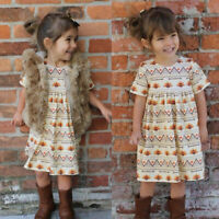 Toddler Kids Baby Girl Dress Thanksgiving Day Turkey Party Princess Dress Outfit