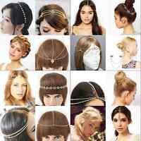 Women Fashion Alloy Rhinestone Head Chain Jewelry Headband Head Piece Hair band